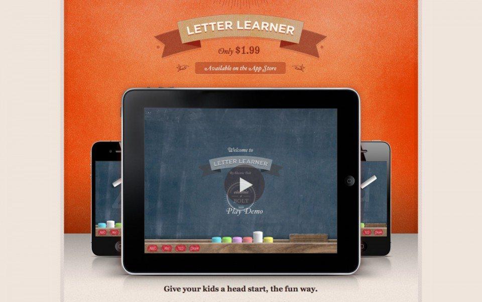 Letter Learner App in the Apple App Store