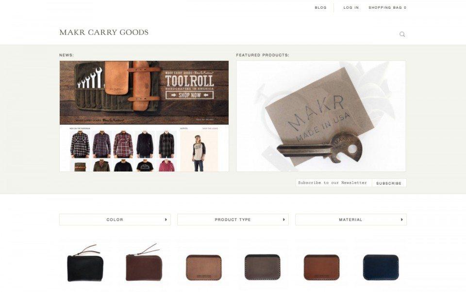 Makr Carry Goos Website Screenshot