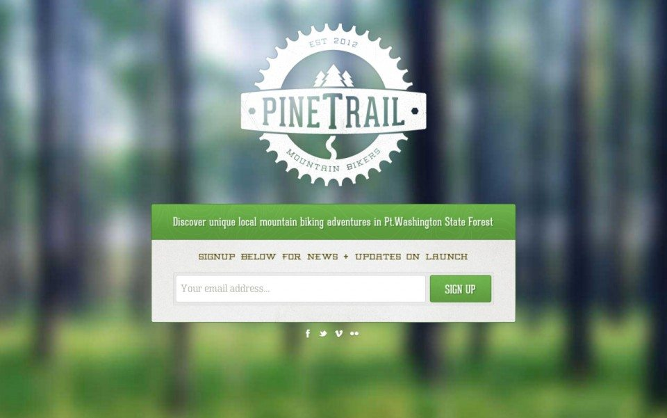 Pine Trail Mountain Bikers Website Screenshoot