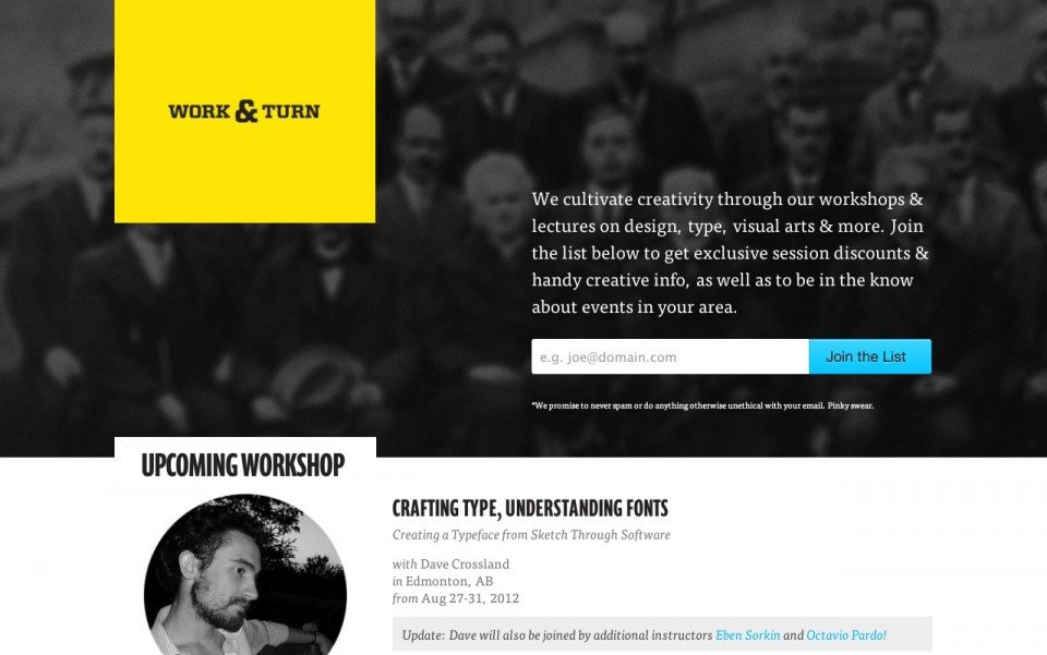 Work and Turn Website Screenshot
