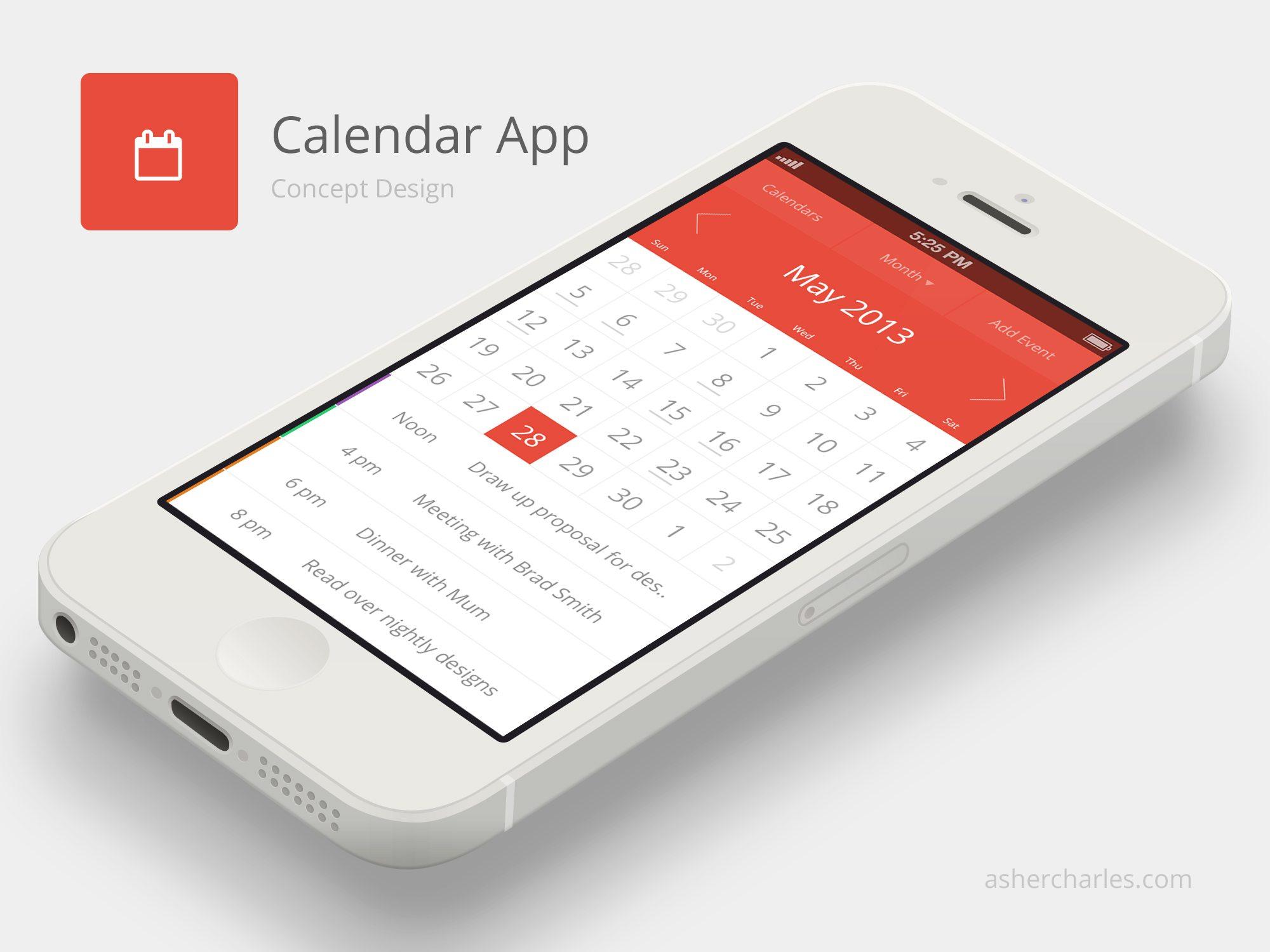 apple-flat-ui-calendar-app