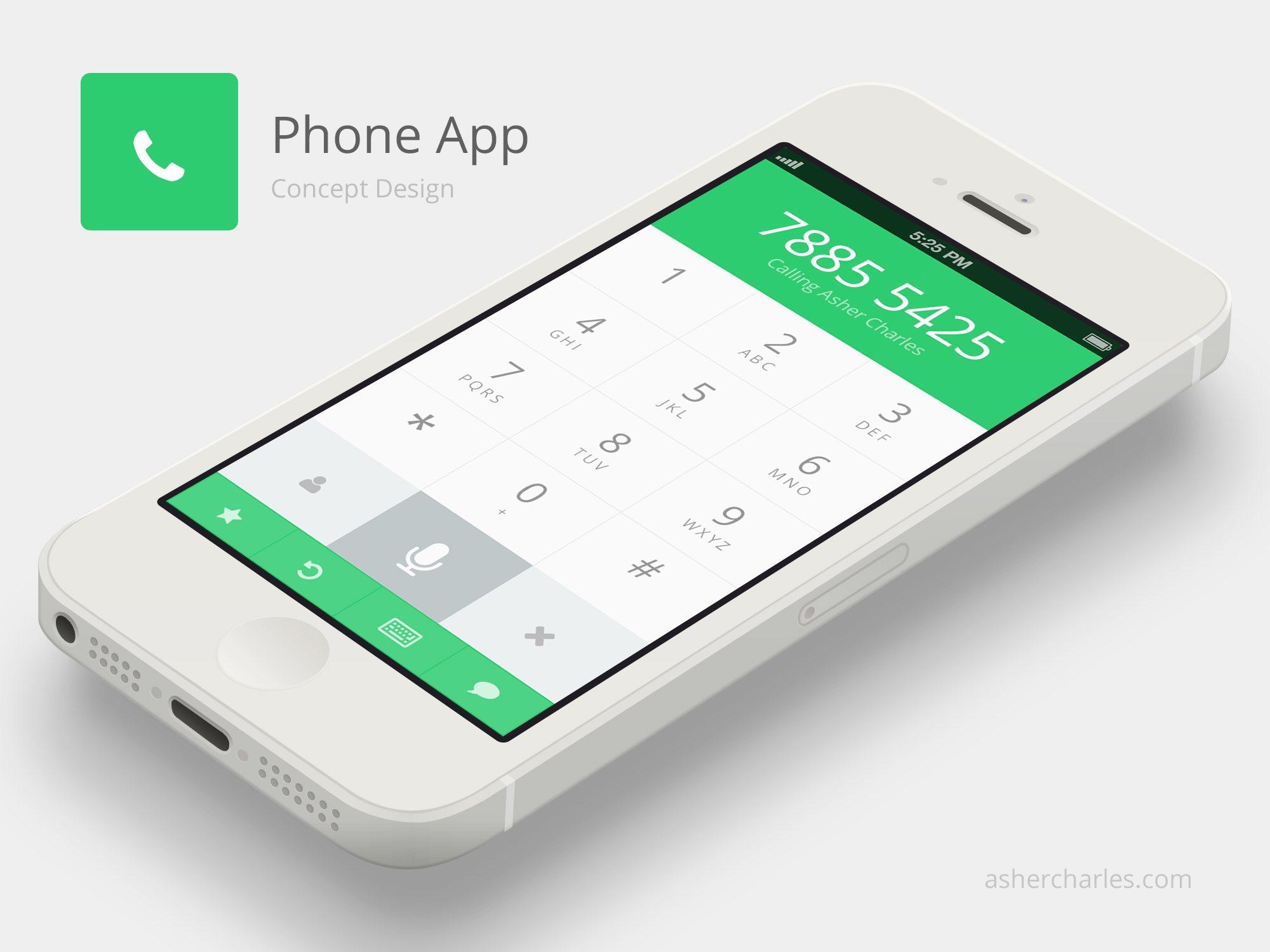 apple-flat-ui-phone-app